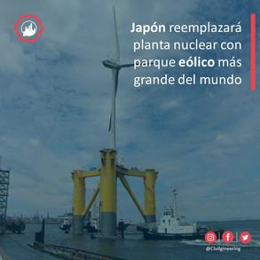 Japón reemplazará planta nuclear con parque eólico más grande del mundo