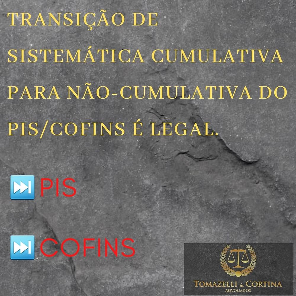 direito tributário transição tributária PIS Cofins