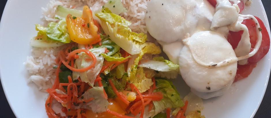 Hühnerbrust überbacken mit Tomate und Mozzarella (3 Portionen)