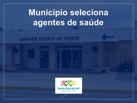 Município seleciona agentes comunitários de saúde