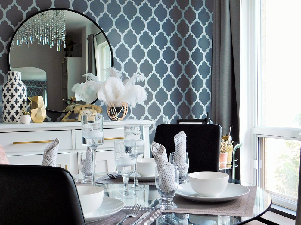 how to style a room with ostrich feathers