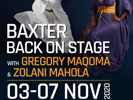 The One Who Sings and Gregory Maqoma at The Baxter Theatre Nov 2020
