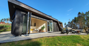 Moderne hytte med særpreg