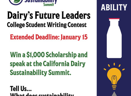 Dairy's Future Leaders - College Student Writing Contest
