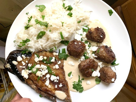 Spiced Lamb Meatballs with Tahini Yogurt Sauce
