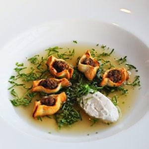 ARMENIAN MANTI ( dumpling soup)