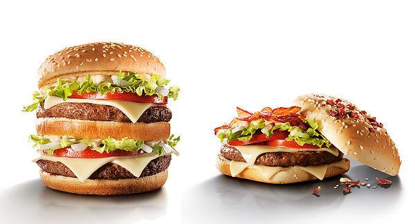 Comparativo de dois hamburgers