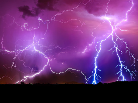 Lightning in Al Tayef, Saudi Arabia, 6/11/18