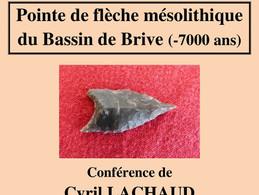 Pointe de flèche mésolithique du Bassin de Brive (-7000 ans)