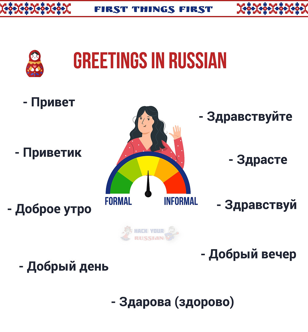 Phrases to greet in Russian - Hello in Russian