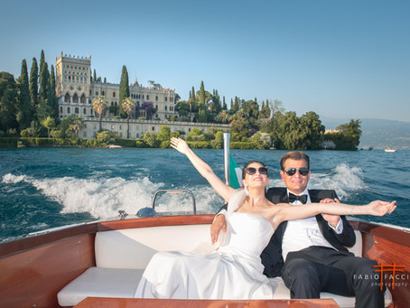 Wedding Photographer  on Isola del Garda, Gardone Riviera.