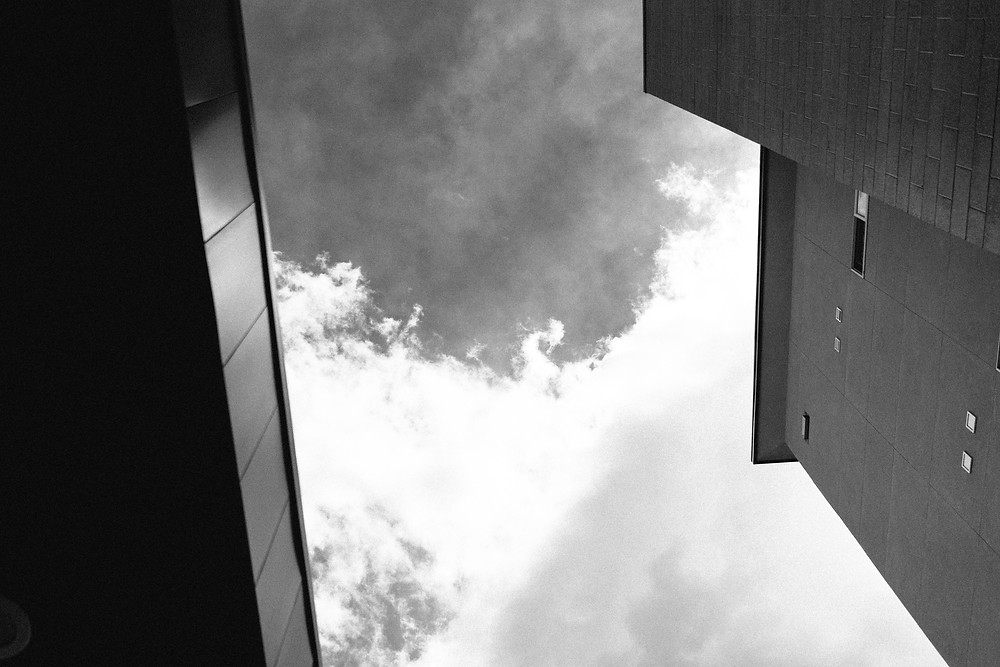 Buildings and sky outside of Loyal Coffee in Colorado Springs, CO