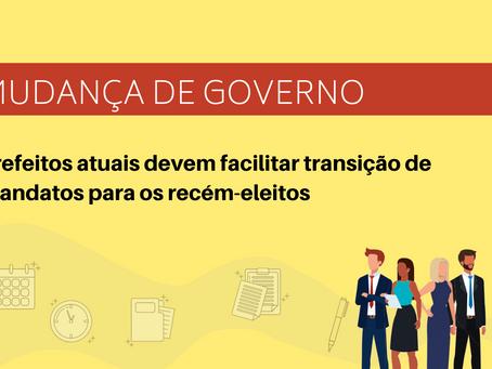 Prefeitos atuais devem facilitar transição de mandatos para os recém-eleitos, alerta o Focco-PE