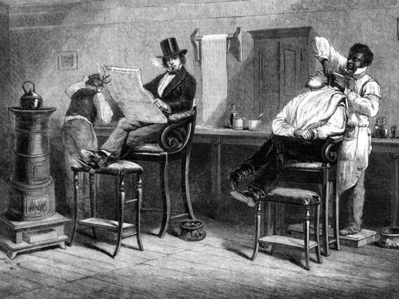 Barbería del Siglo XIX.