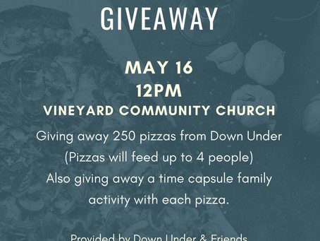 Pizza & Time Capsule Giveaway