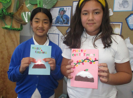 Light-up Christmas Cards in Year 6