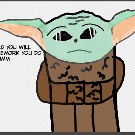 Baby Yoda Life Advice