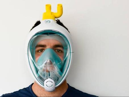 Máscaras de mergulho serão adaptadas para respiradores em hospitais