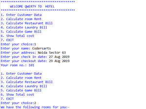 Hotel managment System APP in Python