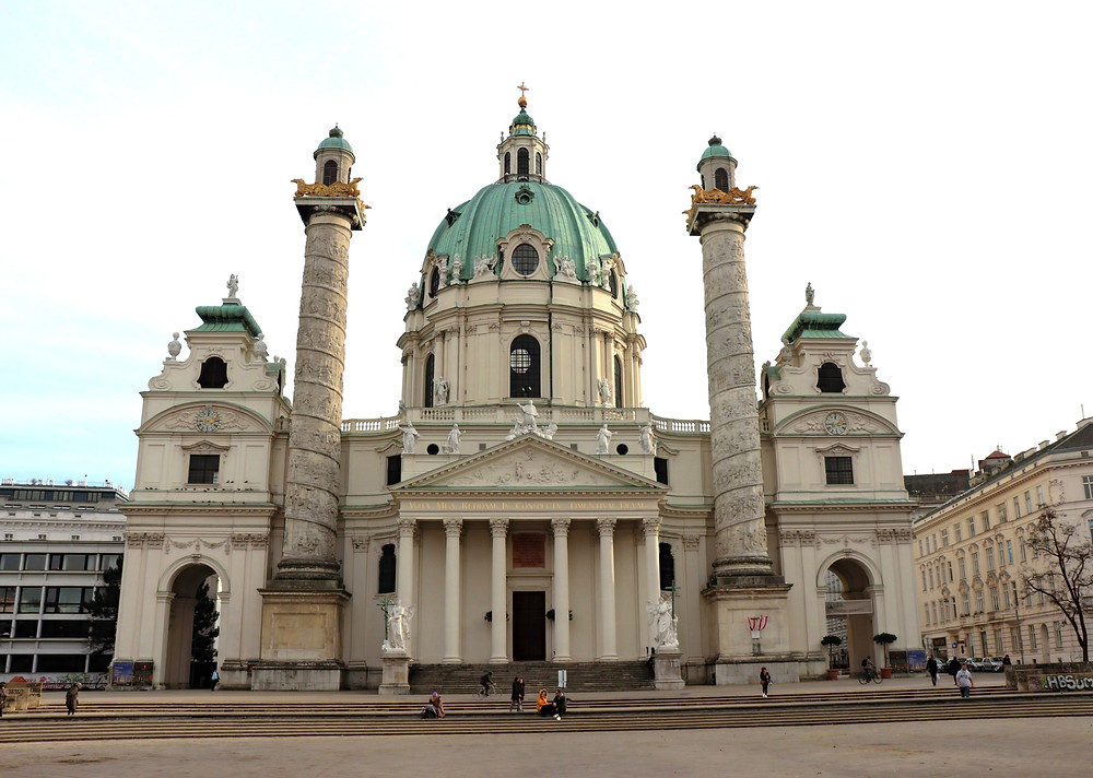 Exterior of Karlskirche in Vienna