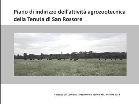 Piano di indirizzo dell'attività agro-zootecnica della Tenuta di San Rossore