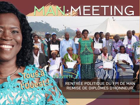 MEETING DE MAN : REMISE DE DIPLÔMES D'HONNEUR.