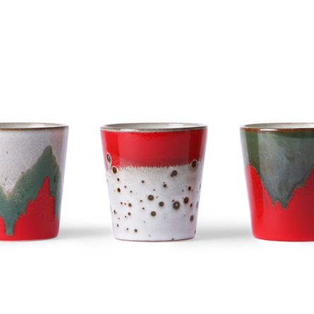 THE CHRISTMAS T(H)REE / ceramic 70s mugs / HKliving