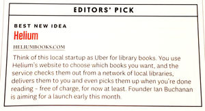 Helium Selected As Editor S Pick Best New Idea In Milwaukee