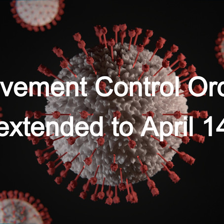 Movement Control Order extended until 14 April
