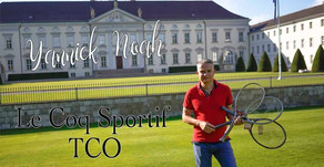 Yannick Noah Le Coq Sportif TCO The Very Last Slam Champ Wooden Racket | The Berlin Tennis Gallery