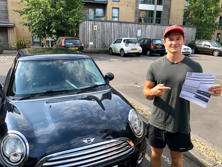 Congratulations Rhys on passing your driving test first time with us and with only 2 minor faults.
