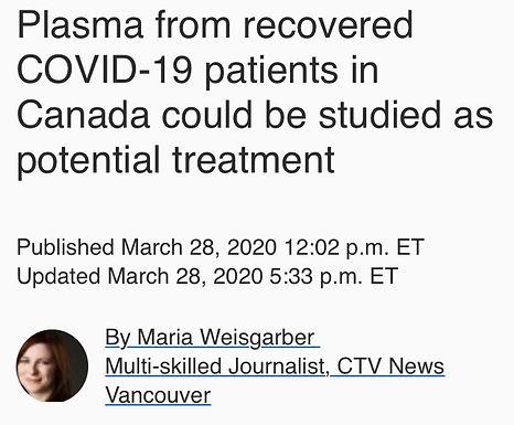 COVID-19: Serum/Plasma Transfusion