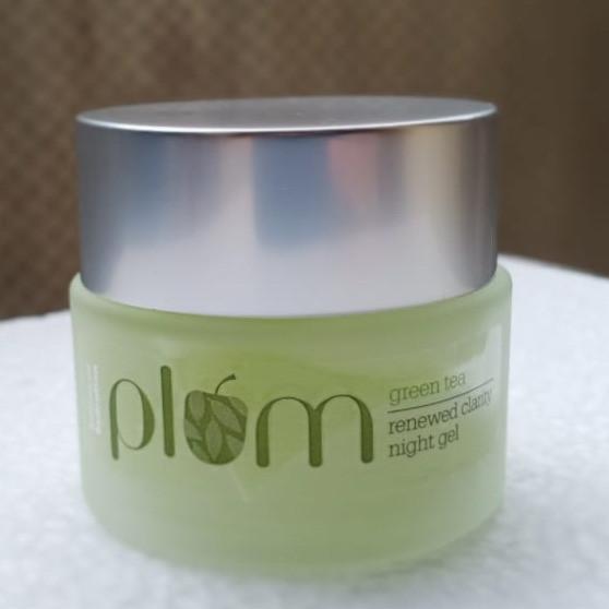 plum green tea night gel cream