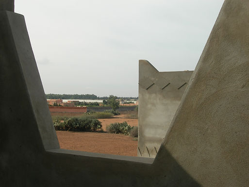 Trois vues de mon environnement depuis la terrasse Taroudant