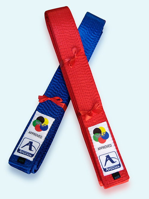 WKF Approved Arawaza competition belts – Red and Blue Set