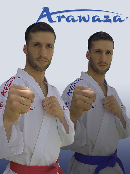 WKF Approved Arawaza onyx zero gravity (red and blue shoulder embroidery set)