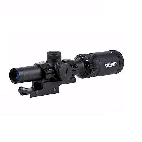 Valken 1-4x20 Mil-Dot Airsoft Rifle Scope w/ Mount