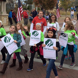 Our water station Girl Scouts