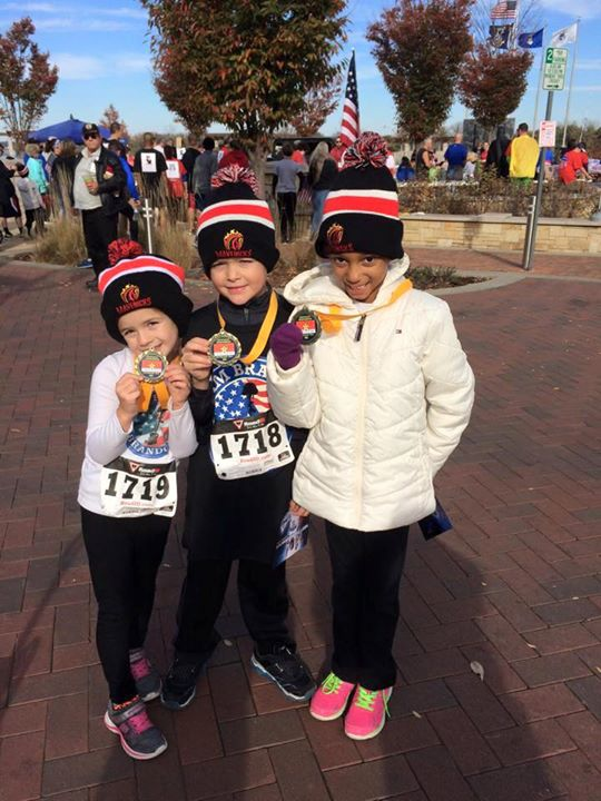 Our LITTLE WARRIORS!!!!! __Kentucky Remembers Veterans Day 5K