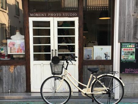 代表と自転車