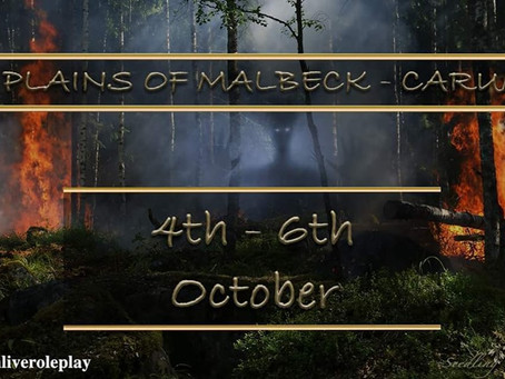 ANOTHER GREAT CARUM LIVE ACTION ROLE PLAY EVENT- October 2019.