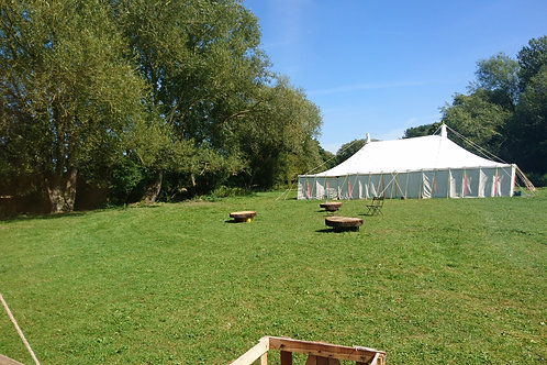 60ft x 30ft Traditional Canvas Marquee