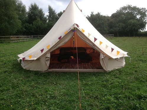 Glamping 5m Bell Tent (Furnished)