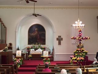 Easter flowers 2017 altar.JPG