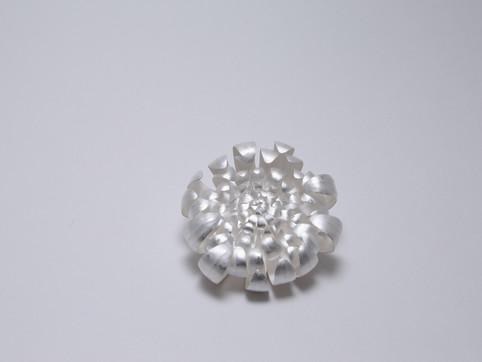 The White Chrysanthemum #1 (Brooch)
