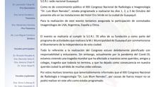 """Postergación XXII Congreso Nacional de Radiología e Imagenología """"Dr. Luis Blum Narváez"""""""