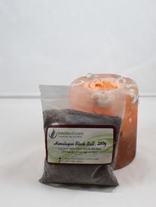 Organic Black Salt and Candle Holder