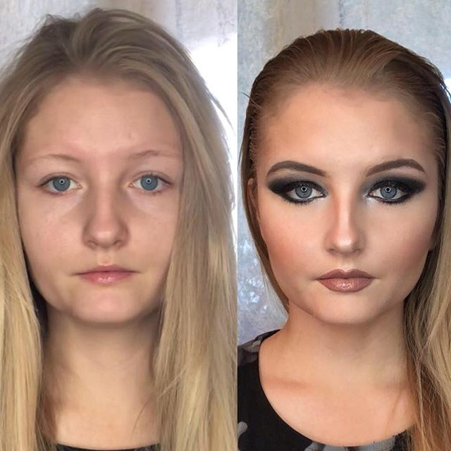 Before and after no filter, no Facetune
