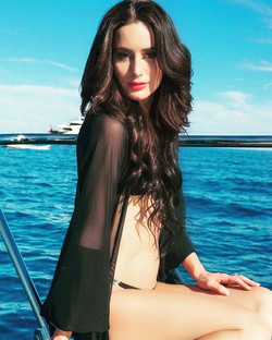 My beautiful girl posing on a amazing yacht for EL lashes. She is wearing the _St Tropez_ lashes