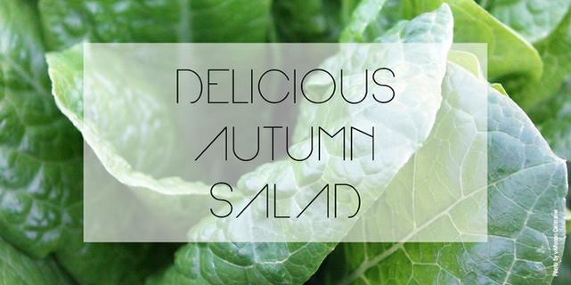 Delicious autumn salad with champignons